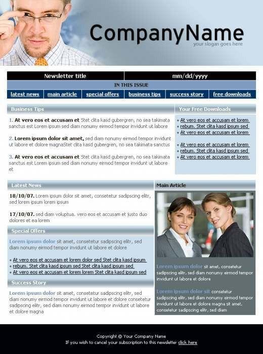 Business Update Newsletter Template - TemplatesBox.com