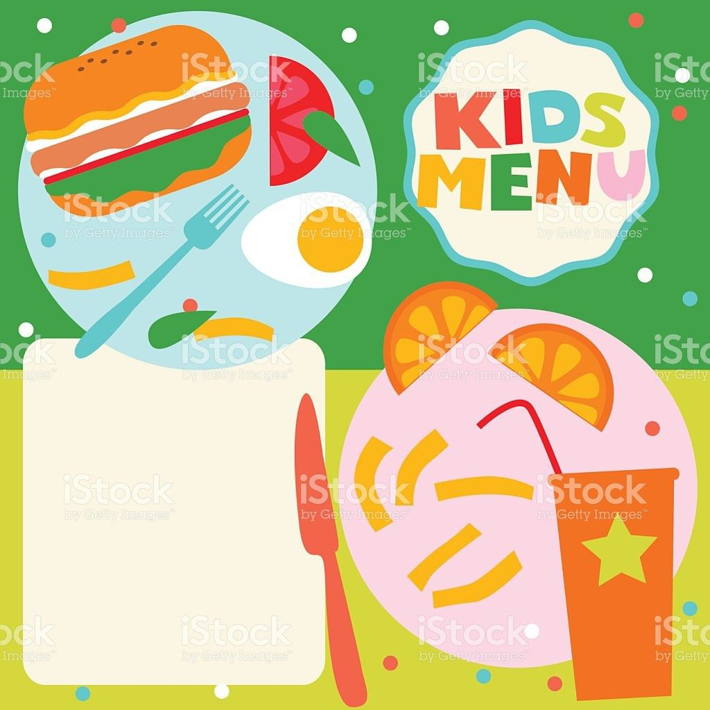 Kids Menu Template stock vector art 485968731 | iStock