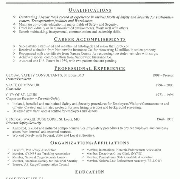 Stylist Inspiration Security Resume Sample 5 Officer Example Guard ...