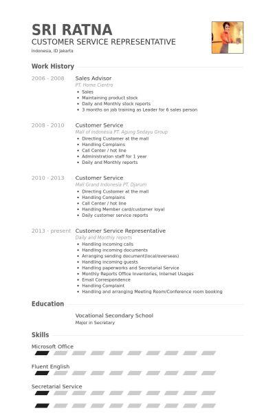 Sales Advisor Resume samples - VisualCV resume samples database