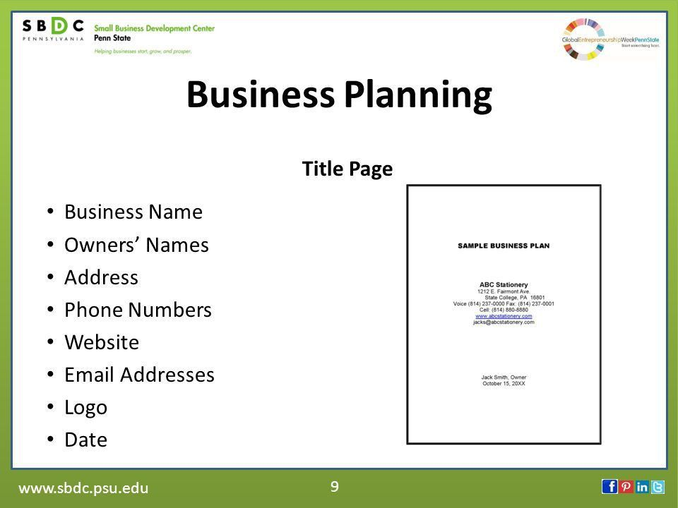 1 The Second Step of Starting a Business: Writing a Business Plan ...