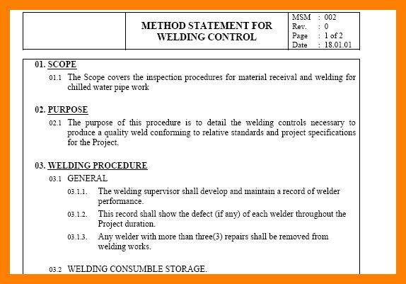 7+ method statement examples | intern resume