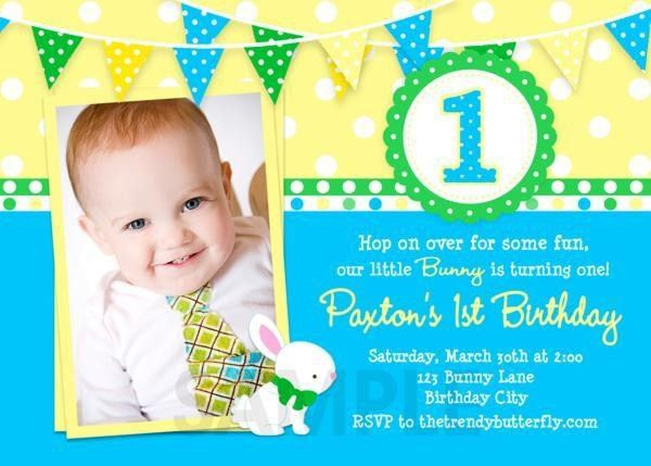 1St Birthday Invitation Wording | Card Invitation Templates