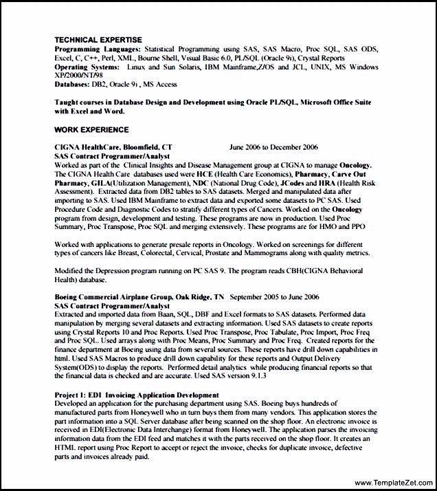 sas programmer. registered nurse resume templates nursing school ...