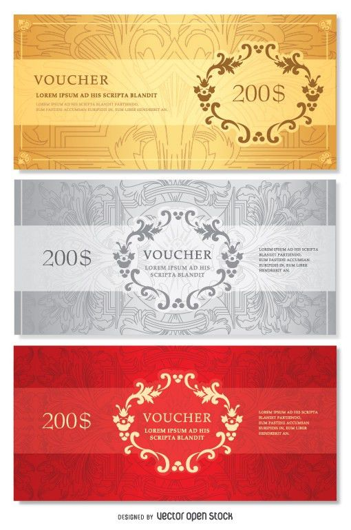 Voucher template - Vector download