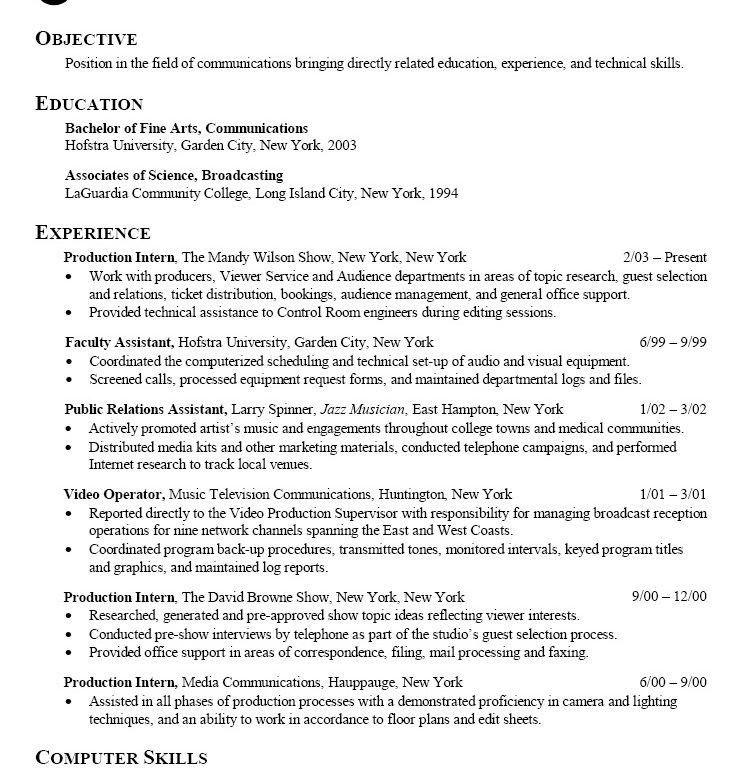 pr resume objective download career change resume objective