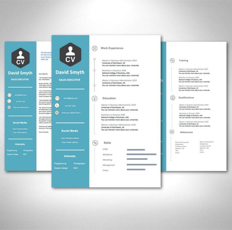 Modern CV Template Pack - AceCVs