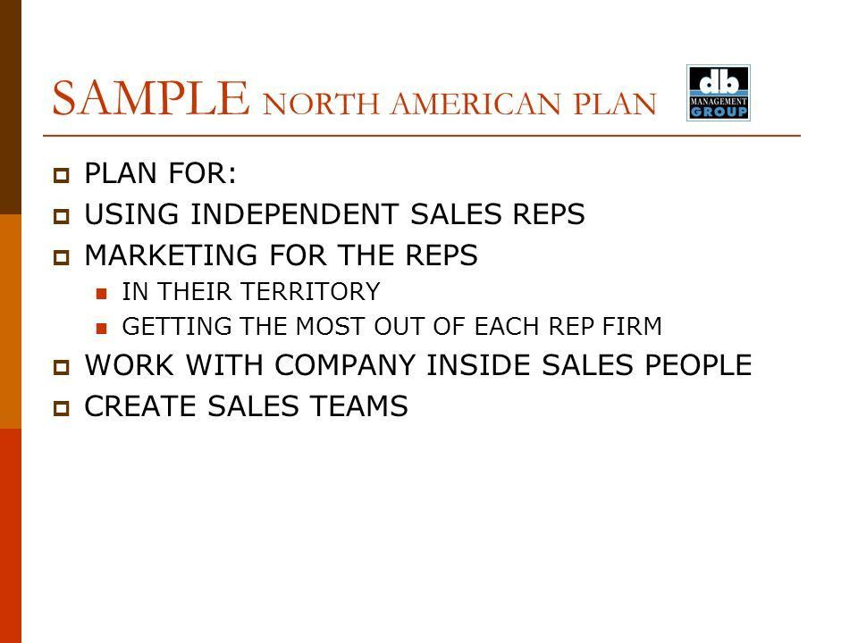 TEL: / FAX: / CELL: SAMPLE PLAN STRATEGIC SALES AND MARKETING PLAN ...