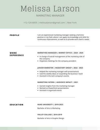 Simple Resume Templates - Canva