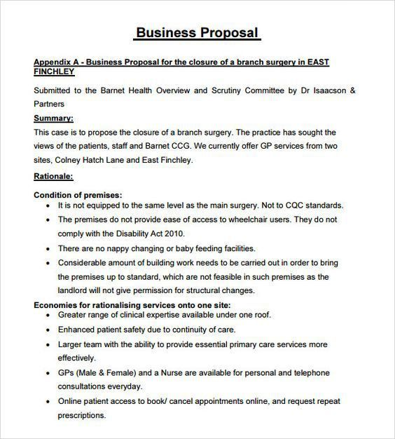 sample business proposal template free word pdf documents download ...