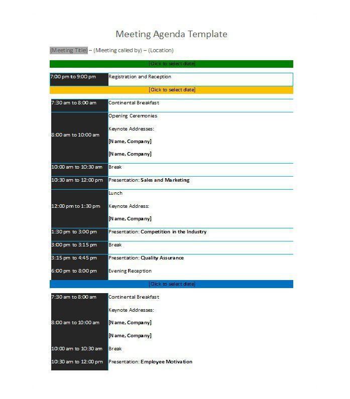 Conference Agenda Template. Agenda Format Examples Love This ...
