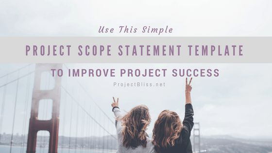 This Simple Project Scope Statement Template Will Improve Your ...