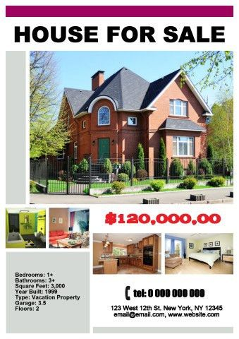 House for Sale poster template, How to make a House for Sale poster...