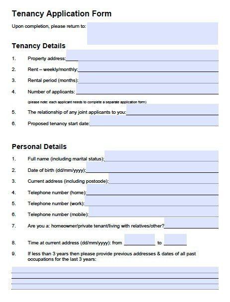 Free Oregon Rental Application – PDF Template