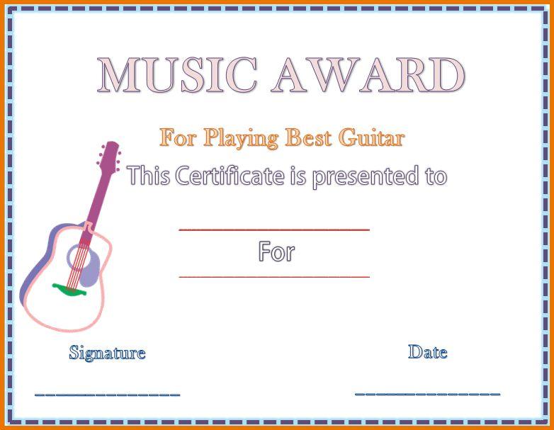 Award Template Word.Guitar Music Award Certificate Template.png ...