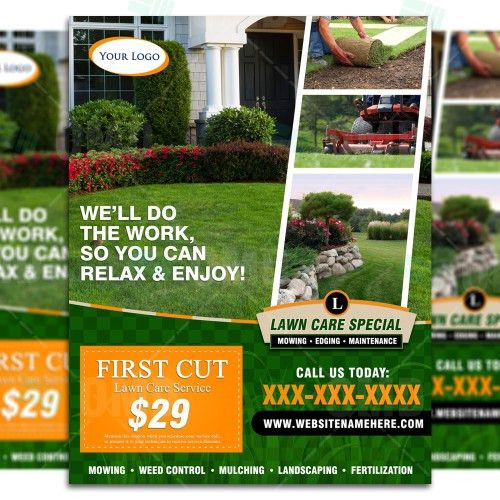 Lawn Care Flyer Design #4 – The Lawn Market