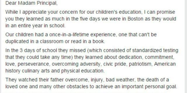 Principal Scolds Parents For Taking Kids On Vacation, Father ...