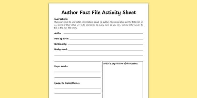 Fact File Activity Sheet-Irish, worksheet