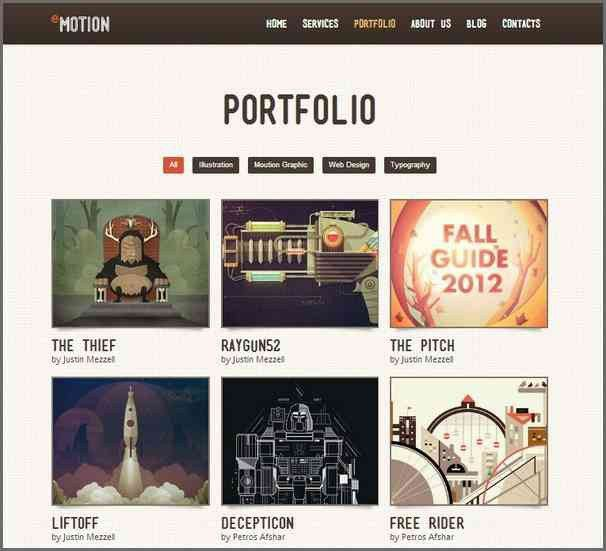 PORTFOLIO WEBSITE TEMPLATES | Bidproposalform.com