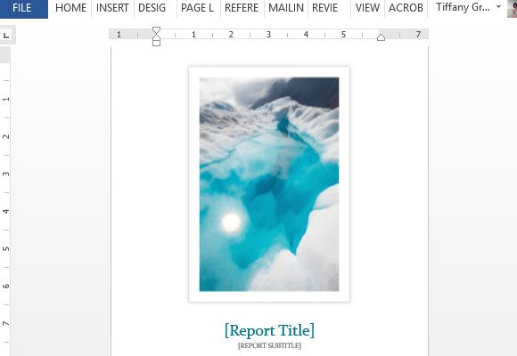 Student Report Word Template With Cover Photo