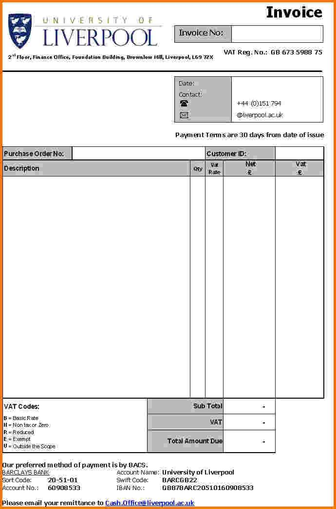 5+ formal invoice template | Financial Statement Form