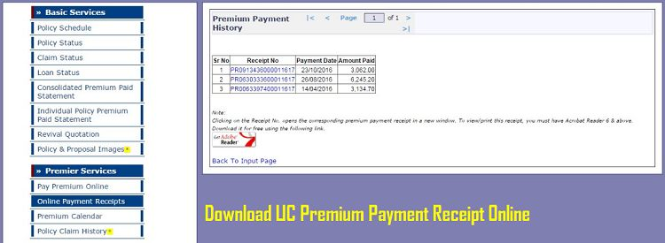 How To Download LIC Premium Payment Receipt Online