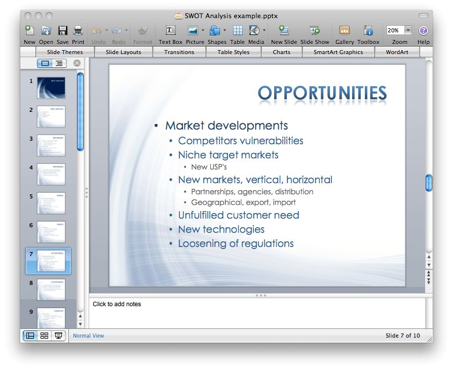 How to Make SWOT Analysis in a Word Document | How to Make SWOT ...
