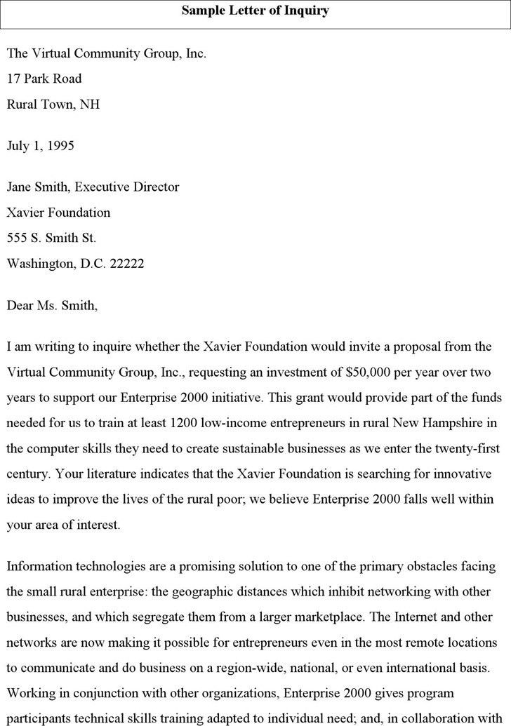Inquiry Letters Example, best 25+ examples of cover letters ideas ...