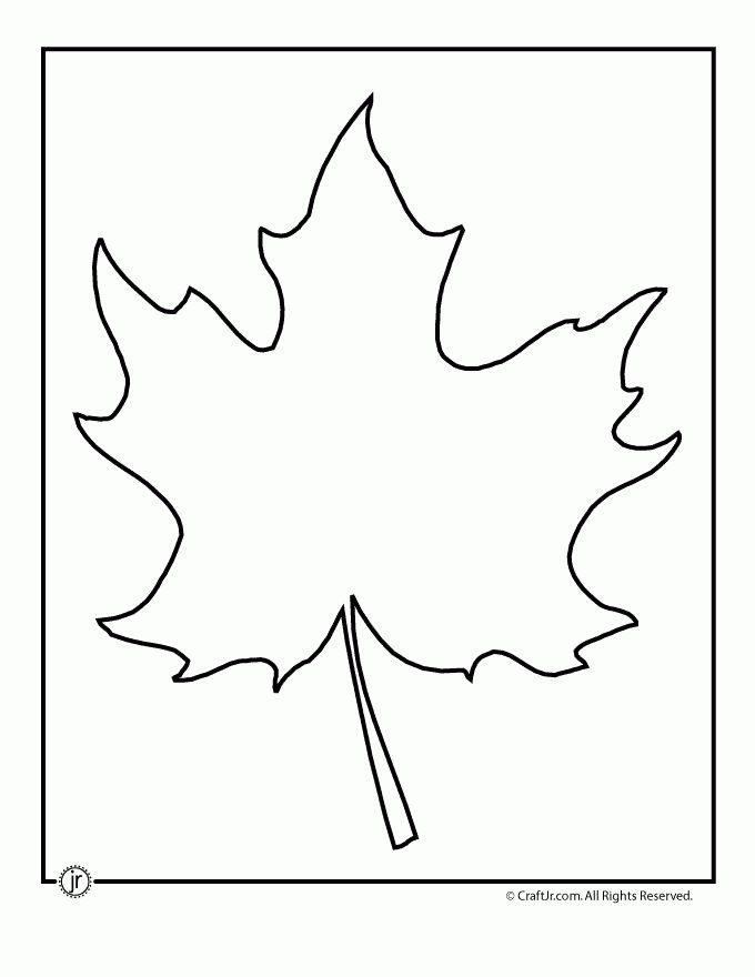 Leaf Template Printables - Woo! Jr. Kids Activities