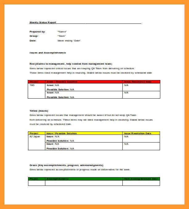 10+ employee weekly status report template | salary receipt letter