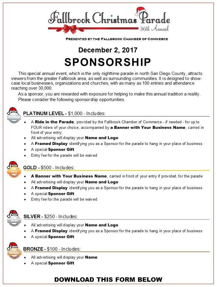 Sponsors - Fallbrook Chamber of Commerce