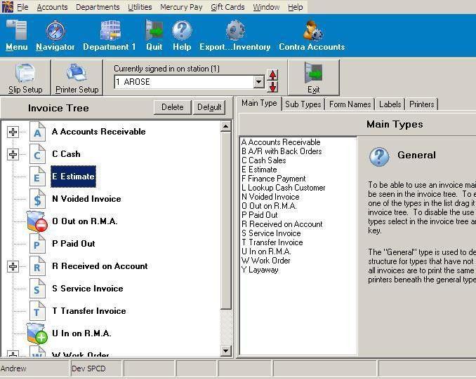 Adding Invoice Types