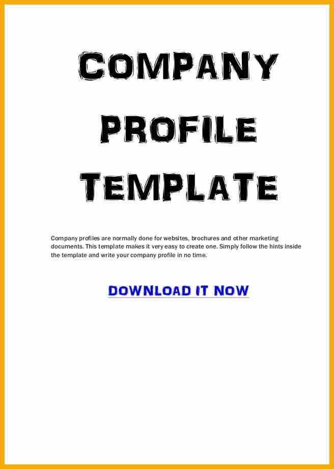 Doc.#650857: Business Profile Format – Business Profile Templates ...