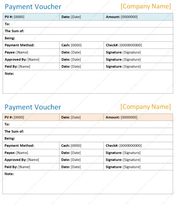Payment voucher template | Save Word Templates