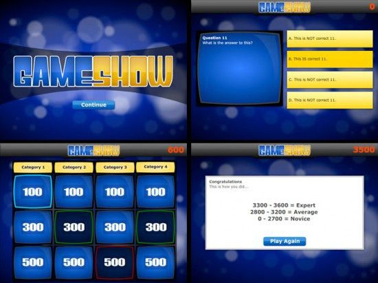 powerpoint template quiz game quiz show powerpoint templates ...