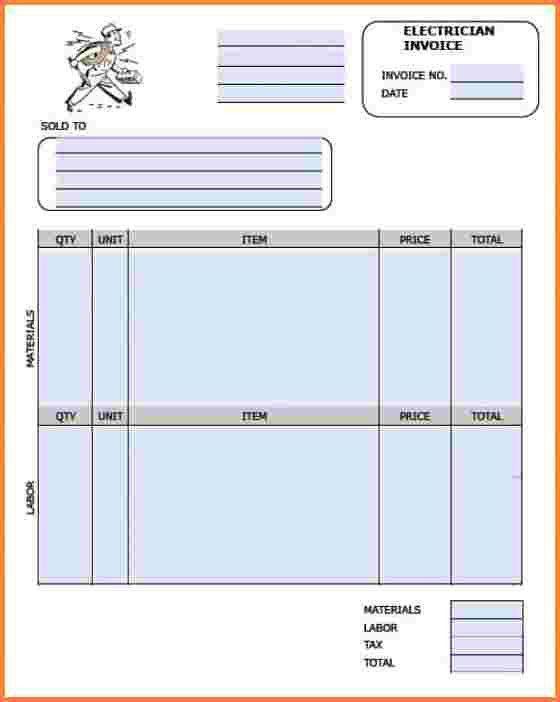 9+ electrician invoice sample   Invoice Template
