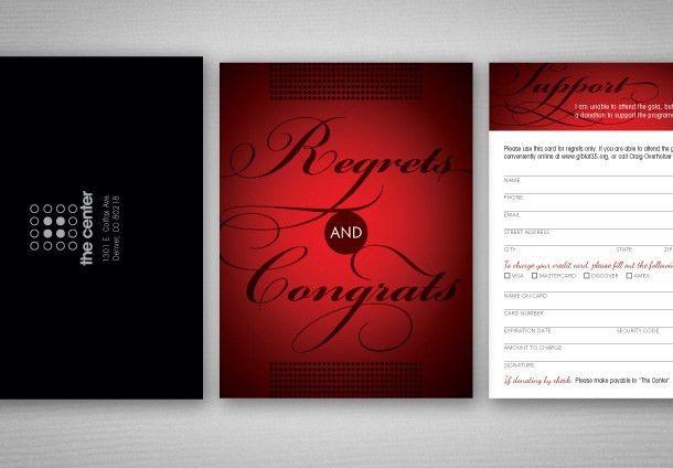The Center's 35th Anniversary Gala Invitation @ upandupcreative.com