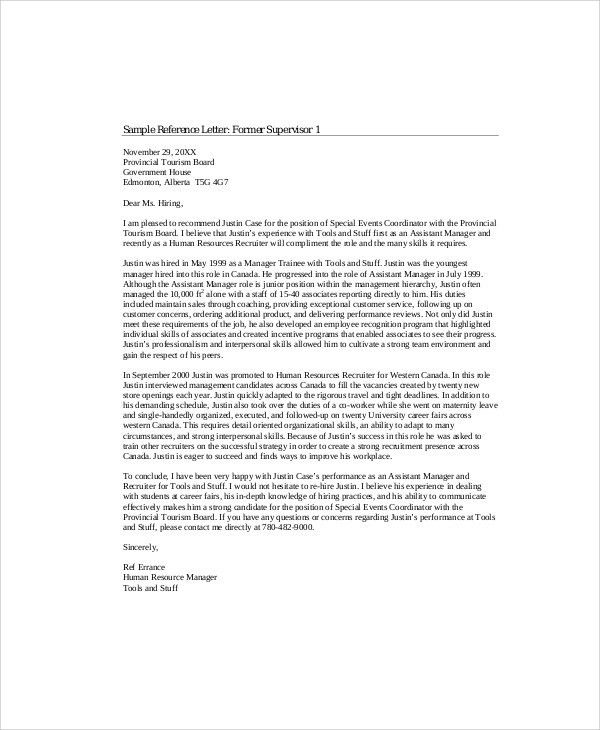 Sample Recommendation Letter from Employer - 6+ Examples in Word, PDF
