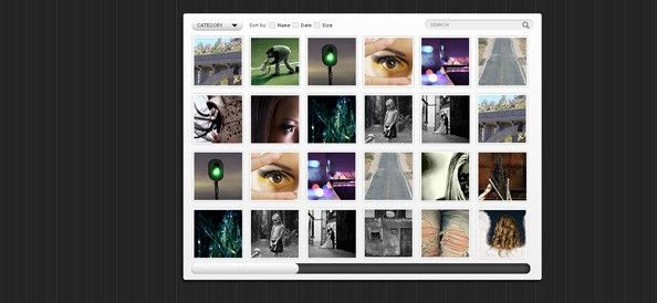 Free Gallery Website CSS Template with Horizontal Slider - Website ...