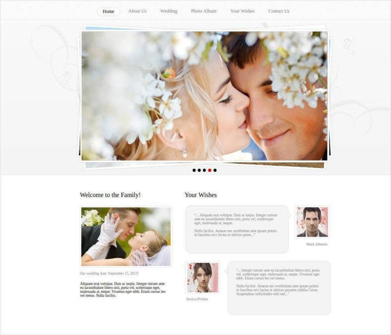 Wedding Website Templates Free - Contegri.com