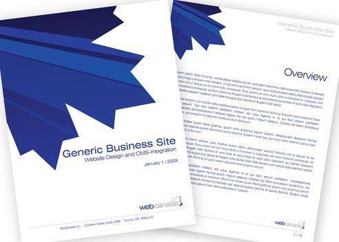 dishproductions :: WebCanada Proposal Document Template :: design ...