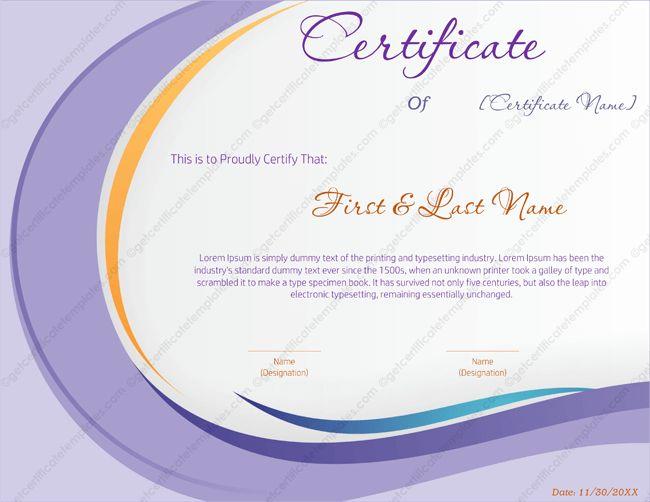 Award Certificate Template 146 - Get Certificate Templates