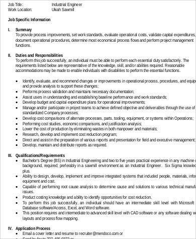 pellets production industrial engineer activities description job ...