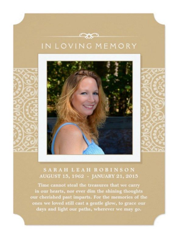 Memorial Invitation Cards | PaperInvite
