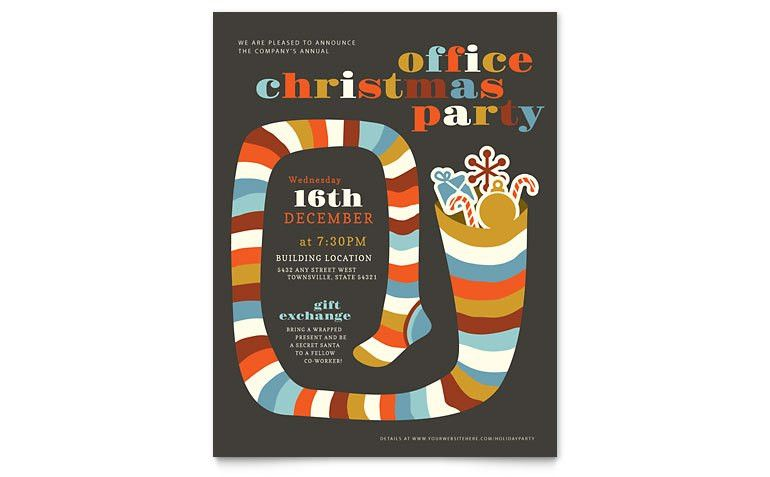 Christmas Party Flyer Template - Word & Publisher