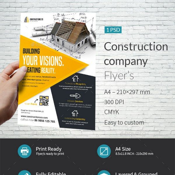 20+ Clean Construction And Architecture Templates
