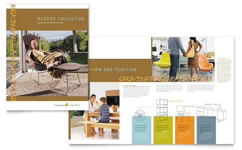 Furniture Store Brochure Template - Word & Publisher