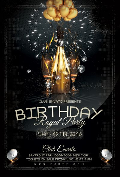 Birthday-Royal-Party-Flyer-Template by stormclub on DeviantArt