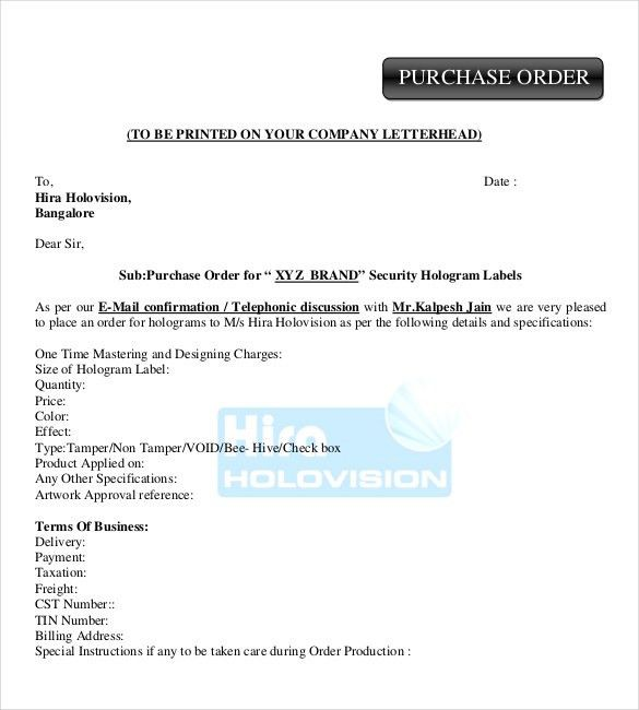 Purchase Order Templates – 16+ Free Sample, Example, Format ...