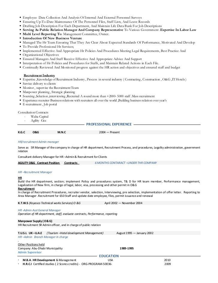 Resume hr manage-consultant-hr-admin- manager consultant- employee …